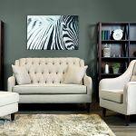 Klasyczny zestaw Madison. Dwuosobowa sofa, fotel i puf za 4900 zł. ADB FURNITURE