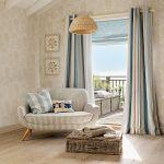 Kolekcja Coastal, tkanina Awning Stripe Seaspray (zasłona), 249 zł/m, Laura Ashley
