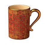 Kubek ceramiczny z zestawu Tabriz. Smoki i ważki na stół