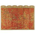 Laka i złoto, XIX w., Chiny. Ładnie zasłonięte: elegancki parawan pokojowy