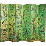 Malowany w egzotyczne rośliny i ptaki, połowa XIX w., Wielka Brytania