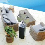 Nie tylko do romantycznego ogrodu. Nova zrobiona jest z grubej plecionki. Ceny: sofa, 7301 zł fotel, 3861 zł stolik,