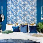 tapeta do niebieskiej sypialni