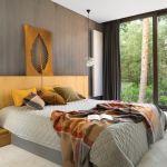 szara sypialnia nowoczesna