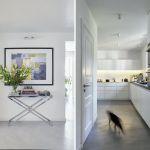nowoczesny dom biały hol/ przedpokój