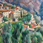 Pejzaż z Saint-Jeannet , 1923 r. Maurycy Mędrzycki: poeta prowansalskiego pejzażu