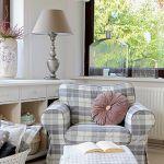 Pokrowiec na fotel Ektorp (IKEA) – 449 zł, rolety rzymskie Jupiter, 129 zł (80 x 170 cm), Dekoria