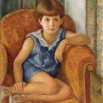 Portret dziecka z błękitnymi oczami , 1925 r.