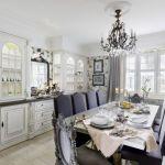 elegancka kuchnia biało szara