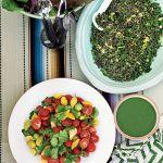 Sałatka z małych pomidorów i zielonej soczewicy