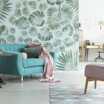 Salon w nowoczesnym stylu moty roślnny