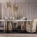 Stół Kandinsky, Casamilano, MOOD. 30 stołów do jadalni z blatami z drewna, kamienia i szkła