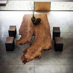 stół z litego drewna do jadalni