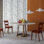 stół do jadalni marmurowym blatem