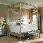 sypialnia inspiracje stylowe łóżko z bladachimem