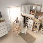 stylowy pokój dla dziecka łóżko piętrowe