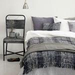 szaro biała sypialnia pomysł