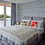 szara nowoczesna sypialnia