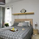 sypialnia w stylu skandynawskim łóżko