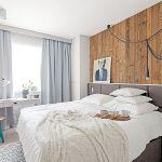sypialnia w stylu skandynawskim wystrój