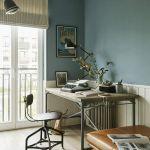 pokój z biurkiem w stylu vintage
