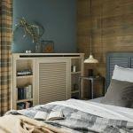szara sypialnia w stylu vintage