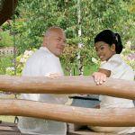 Tomasz Cajdler i jego żona Marisol. Ogród miłośnika ptaków