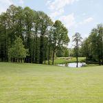 Trawnik jak na miłośników golfa przystało.