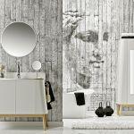 Tu łazienkę urządziły ściany obłożone drukowaną cyfrowo okładziną Concrete i Art. Cena – 180 zł za metr, Profile Vox.