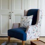 Uszak w skandynawskim wydaniu, tkaniny z kolekcji Homes and Garden II marki Baker Lifestyle. RIDEX DEKORACJE