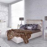 W sypialni Glamour Łóżko Ax z tapicerowanym zagłówkiem, od 4450 zł, Meblonowak