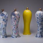 Kolekcja wazonów Chinita Marka Cecuły, fot. Sebastian Zimmer, Ćmielów Design Studio, porcelanowa.com