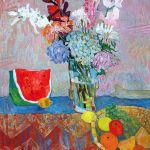 abstrakcyjny obraz kwiaty