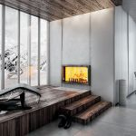Wkład kominkowy Atraflam, JØTUL. Kominki i grzejniki – 30 inspiracji do salonu, sypialni, kuchni i łazienki