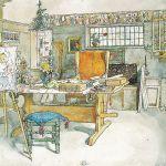 Wydany w 1899 roku album z obrazami Carla, zatytułowany Ett hem ( W domu ) raz na zawsze zmienił nie tylko