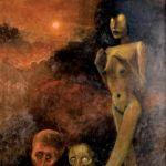 Zdzisław Beksiński, Czerwony księżyc , 1973 r., cw 60 000 zł, POLSWISS ART