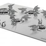 Zrobione z tytanu palniki w tej kuchence mają niespotykane kształty ptaszków. Dolce Stil Novo, nowość