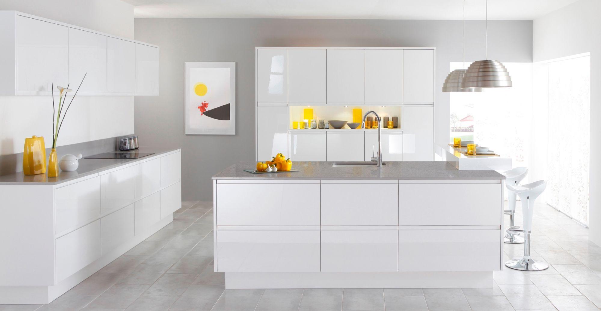 szaro-biała kuchnia