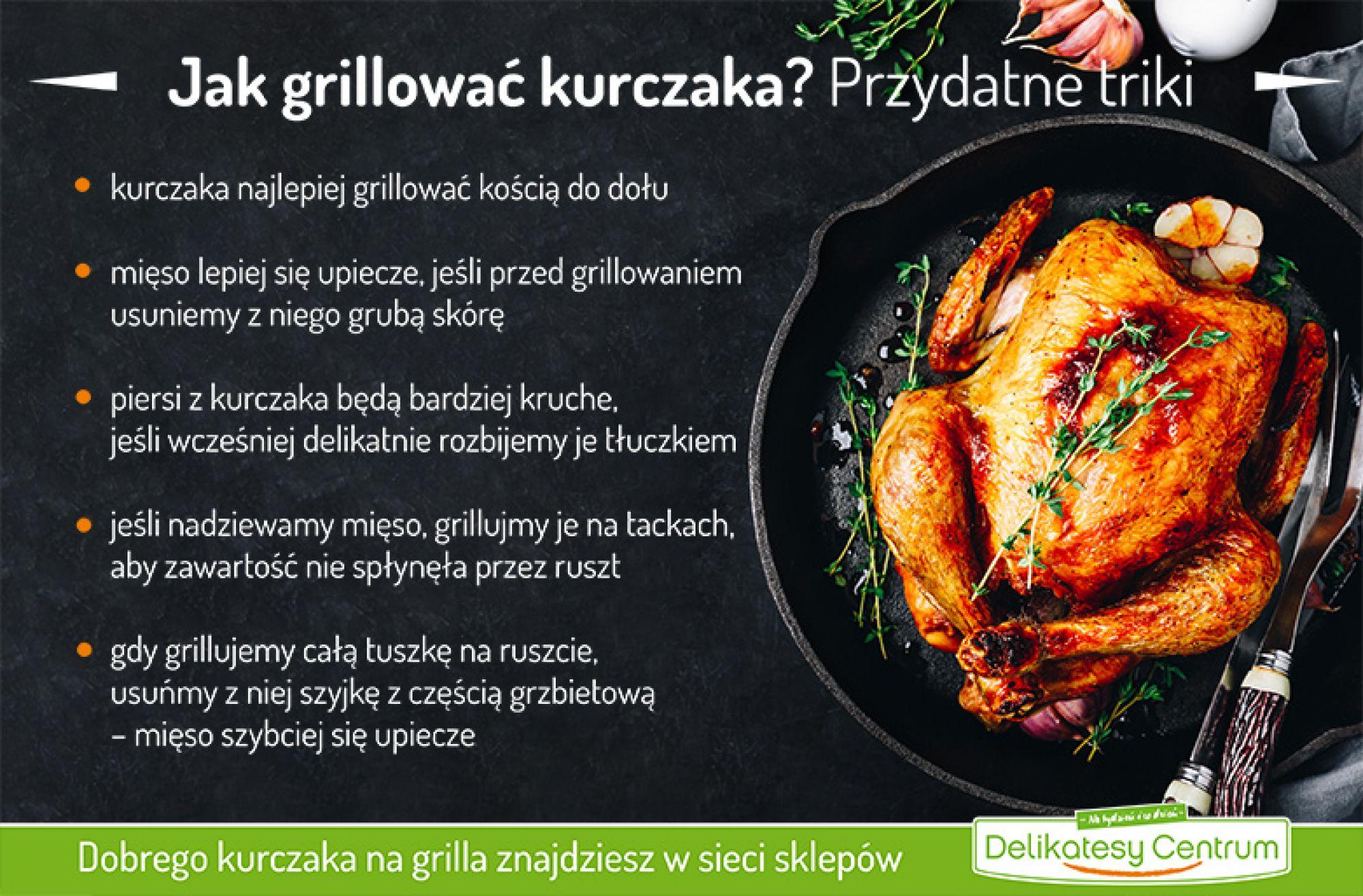 Jak grillować kurczaka? Przydatne triki - infografika