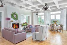 salon w stylu francuskim w polskim dworze