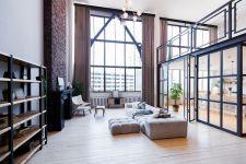 dekoracje okien styl loftowy