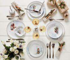 Ciepły i radosny klimat w trakcie kolacji wigilijnej podkreśli porcelana
