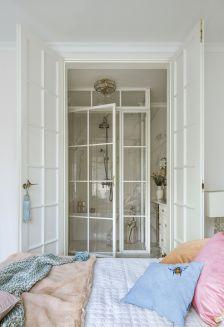styl glamour sypialnia i łazienka