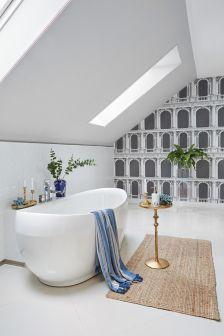łazienka ze skosem pomysły inspiracje