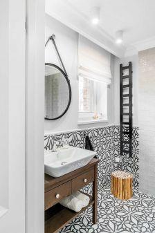 styl nowoczesny łazienka czarno biała