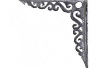 Metalowy wspornik pod półkę szary