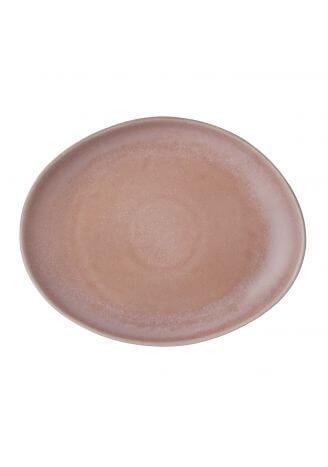 Ceramiczny talerz różowy matowy