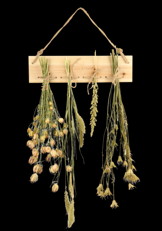 Drewniana suszarka do ziół i kwiatów