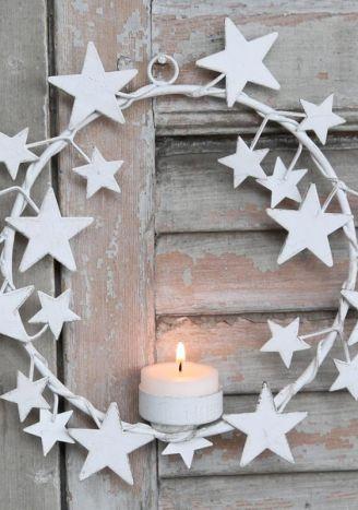 Metalowy świecznik do zawieszenia biały