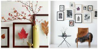 Jesienne dekoracje z kolorowych liści
